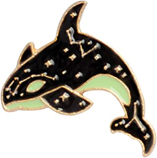 ZALING Cartoon Animal Fish Whale Shark Dolphin Enamel Alloy Brooch Fashion Badge Denim Bag Accessories A