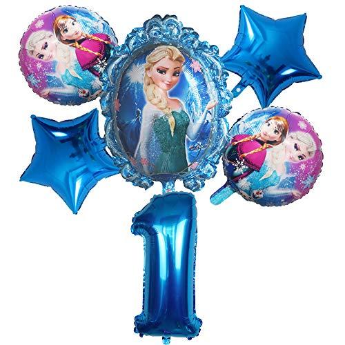 ENXI Globos 6 unids Disney congelado Princesa Elsa Helio Globos número Bola Baby Baby Ducha Decoraciones Globos niños Juguete Fiesta Fiesta de cumpleaños Globos de Aire ( Color : Army Green )