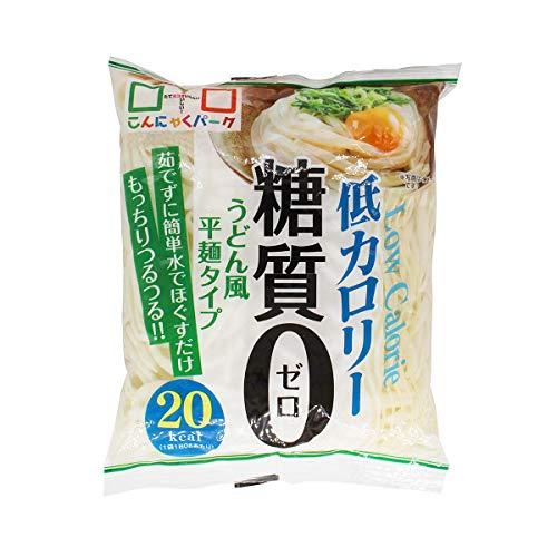 ヨコオデイリーフーズ 糖質0うどん風平麺タイプ こんにゃく麺 蒟蒻 180g 40食入 1箱