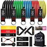 Resistance Bands Set - Exercise Bands with Handles for Resistance Training Equipment for Exercise Fitness, Physical Therapy, Home Workouts