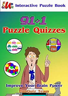 91+1 Puzzle Quizzes : Interactive puzzle book (color and interactive!) (English Edition)