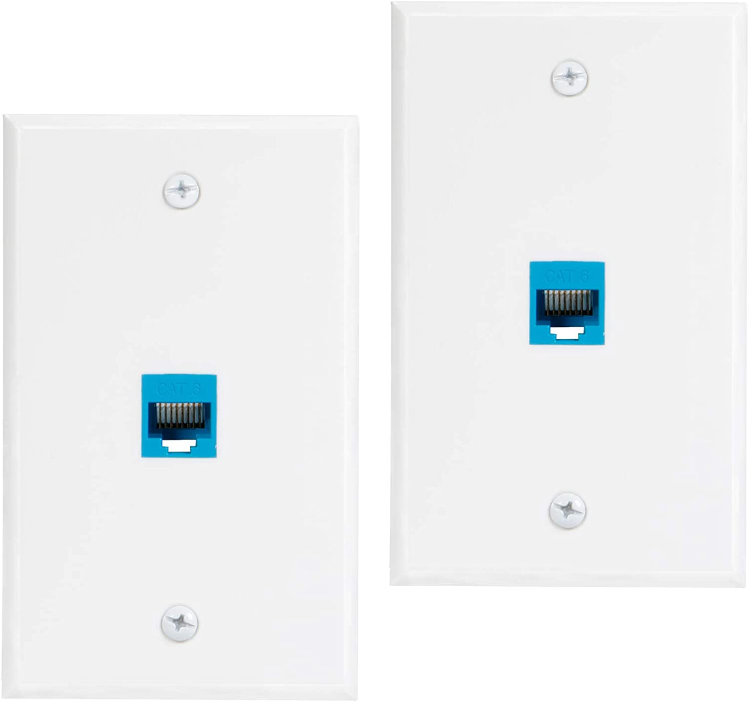Max 81% OFF Ethernet Wall Plate Outlet 2-Pack Super beauty product restock quality top Cat6 Por 1 Jack