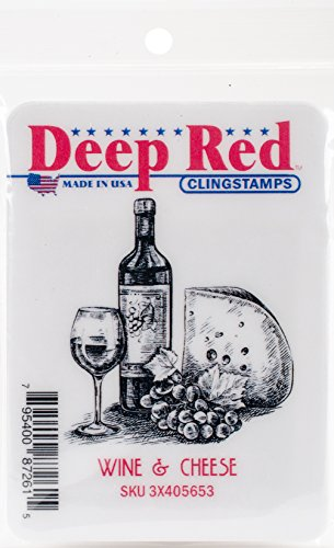 Deep Red Stamps–Sello, Multicolor, 8.12x 11.68X 0,83cm
