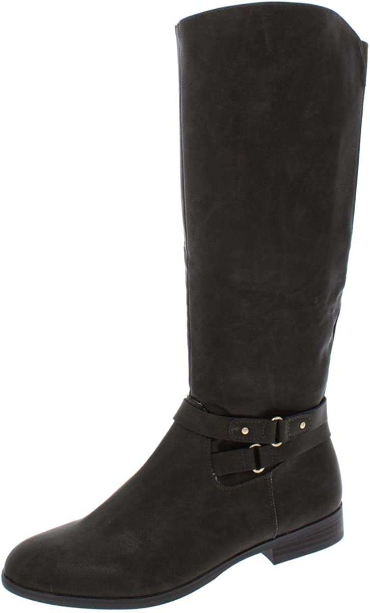 Style & Co. Womens Kindell Leather Closed Toe Mid-Calf Riding Boots