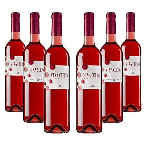 Viña Cuerva Tempranillo - Vino rosado DO La Mancha - Caja de 6 botellas x 750 ml