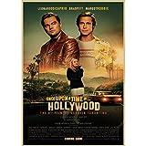 CINRYTN Leinwand Poster 2019 Filmplakat Einmal In Hollywood