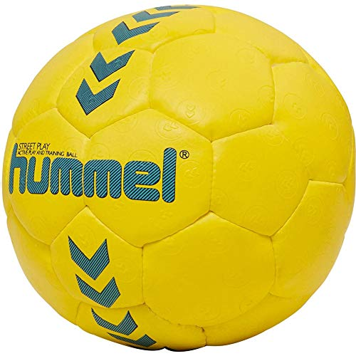 Hummel Kinder HMLSTREET Play-Handball, Safety Gelb/Blau Nacht, 0