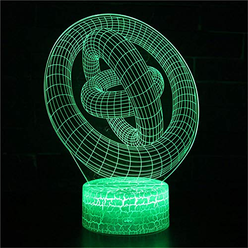 Luz nocturna 3D ilusión LED lámpara de escritorio de control táctil cadena de luces para niños táctil USB mesa lampara lámpara bebé dormir movimiento luz