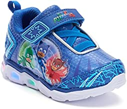 PJ Masks Toddler Shoes,Light Up Tennis Sneaker,Rubber Bottom, Blue,Toddler Size 5