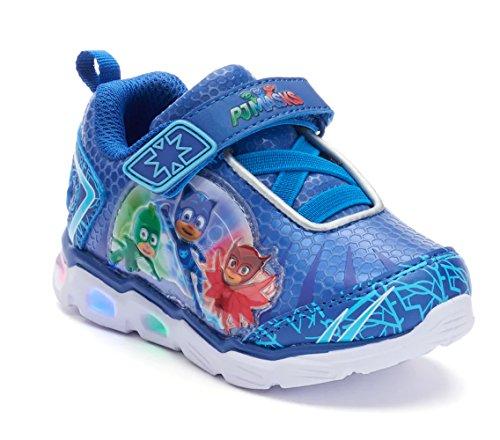 PJ Masks Toddler Shoes,Light Up Tennis Sneaker,Rubber Bottom, Blue, Toddler Size 5