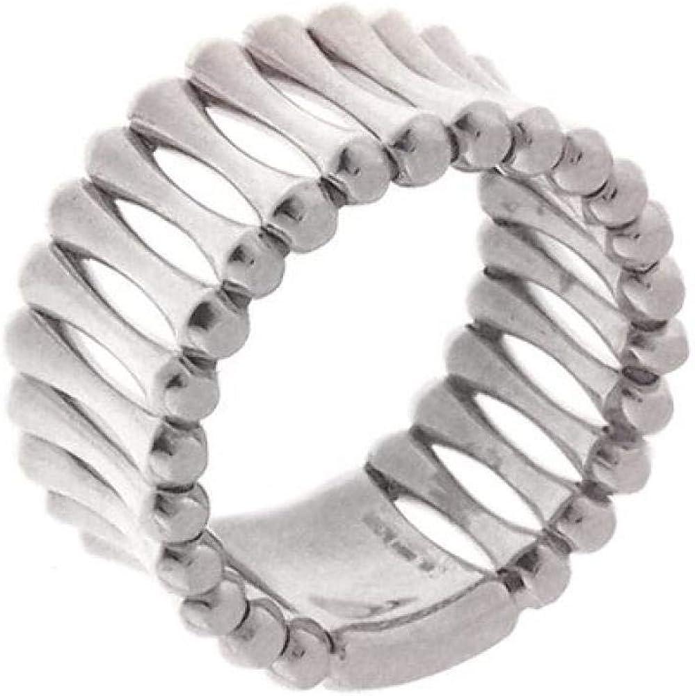 Chimento,anello a fascia per donna,in oro bianco 18 kt (7,7 gr)della linea bamboo over 1A05893ZZ5150