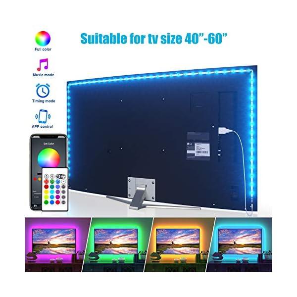LED Strip Lights, Maylit TV LED Backlight TV Bluetooth Control Sync to Music, USB...