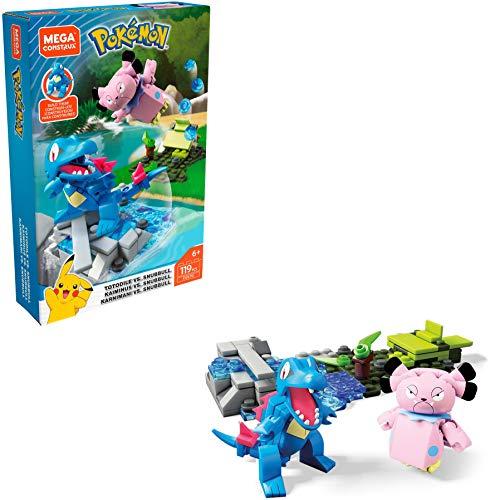 Mega Construx FVK70 - Pokemon Karnimani vs. Snubbull Bauset, mit 119 Bausteinen, Spielzeug ab 6 Jahren