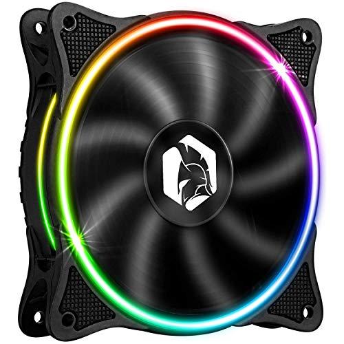 EMPIRE GAMING - Ventilador de Caja PC Gamer 120 mm - Flujo de aire elevado - RGB Direccionable LED PWM 3 Pines 5 V - Dual Loop – Silencioso – Refrigeración 12 CM