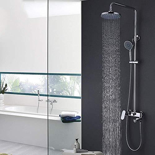 LXGANG cobre cromo ducha conjunto caliente y frío grifo grande ducha gran top spray hermosa práctica ducha para bañera