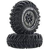 Duratrax Deep Woods CR C3 Mounted 2.2' Crawler Tires, Chrome (2), DTXC4043