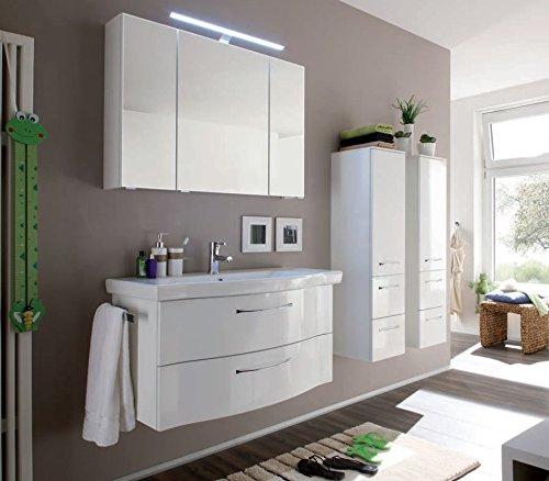 PELIPAL Solitaire 6005 3 TLG. Badmöbel Set/Waschtisch/Unterschrank/Spiegelschrank/Comfort N
