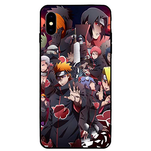 iPhone XR Case 6.1',Japanese Anime Case TPU Plastic Cover for iPhone XR (Naruto-Akatsuki-2)