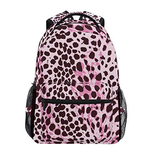 Arte De La Piel del Leopardo Rosa Mochila Escolar Impermeable Mochilas Escolares para Estudiante Adolescentes Niñas Niños