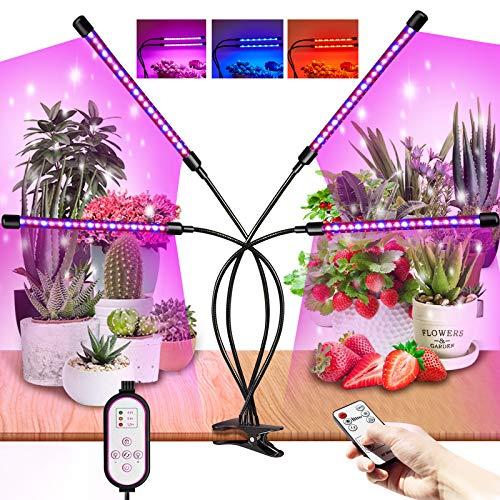 Lampada per Piante indoor,Lampade LED Coltivazione Spettro Completo con 80LEDs,10 Livelli Con Timer e RF Controller Funzione LED Grow Light Full Spectrum
