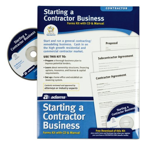 Adams Starting A Contractor Business Kit with Booklet and CD (PK216) by Adams