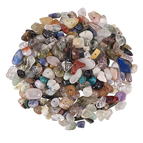Stiesy 1 caja de cuentas de piedra de viruta natural mezcladas con piedras preciosas irregulares para hacer joyas, 5 ~ 8 x 5 ~ 8 mm