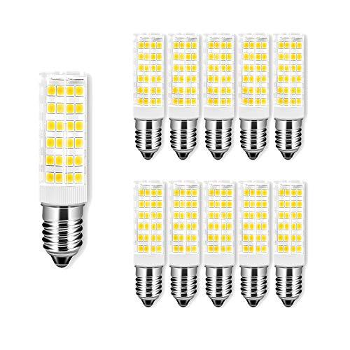 ENGEYA 10er Pack 7W E14 LED Birnen,SMD 2835 5 Watt Mais Leuchtmittel,Warmweiß 3000K AC 220-240V 650 Lumen,Energiesparlampe,ersetzt 65W Glühlampen,Nicht Dimmbar