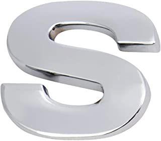 Vitayo Silver 26 English Letters 3D DIY Metallic Sticker Car Emblem Badge Decal Alphabet Mural Home Decor (M)
