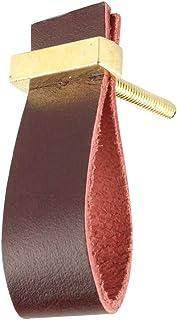 "Indian-Shelf Leather Handmade Faux Kitchen Knobs Wardrobe Pulls Drawer Handles (2.5"", Red, 2 Piece)"
