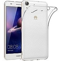 ELECTRÓNICA REY Funda Carcasa Gel Transparente para Huawei Y6 II / / Huawei Honor 5A, Ultra Fina 0,33mm, Silicona TPU de Alta Resistencia y Flexibilidad