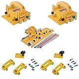 Microjig Grr-Ripper 3D Pushblock (2-Pack) w/TJ-5000 Microdial Tapering Jig & (2) Handle Bridge Kit