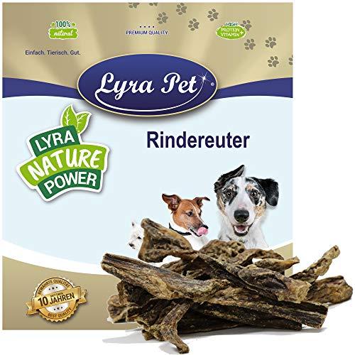 Lyra Pet® 1 kg Rindereuter 1000 g Eutersticks Kausnack für Welpen Hundefutter wie Pansen