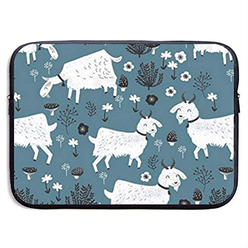 Goats Baby Farm Animal Laptop Sleeve Shoulder Bag Protective Carrying Case Compatible with 13 Inch Slim Sleeve
