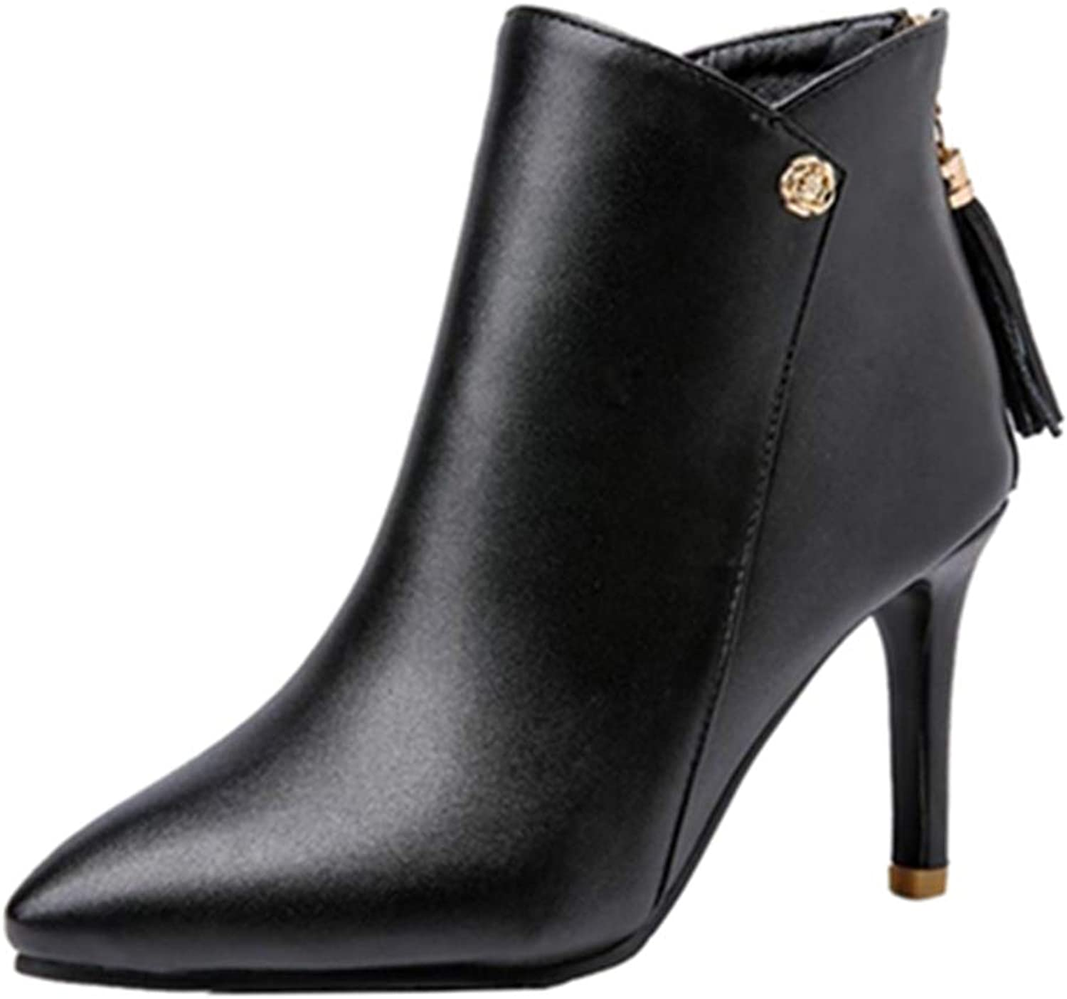 Smilice Women Fashion Ankle Boots