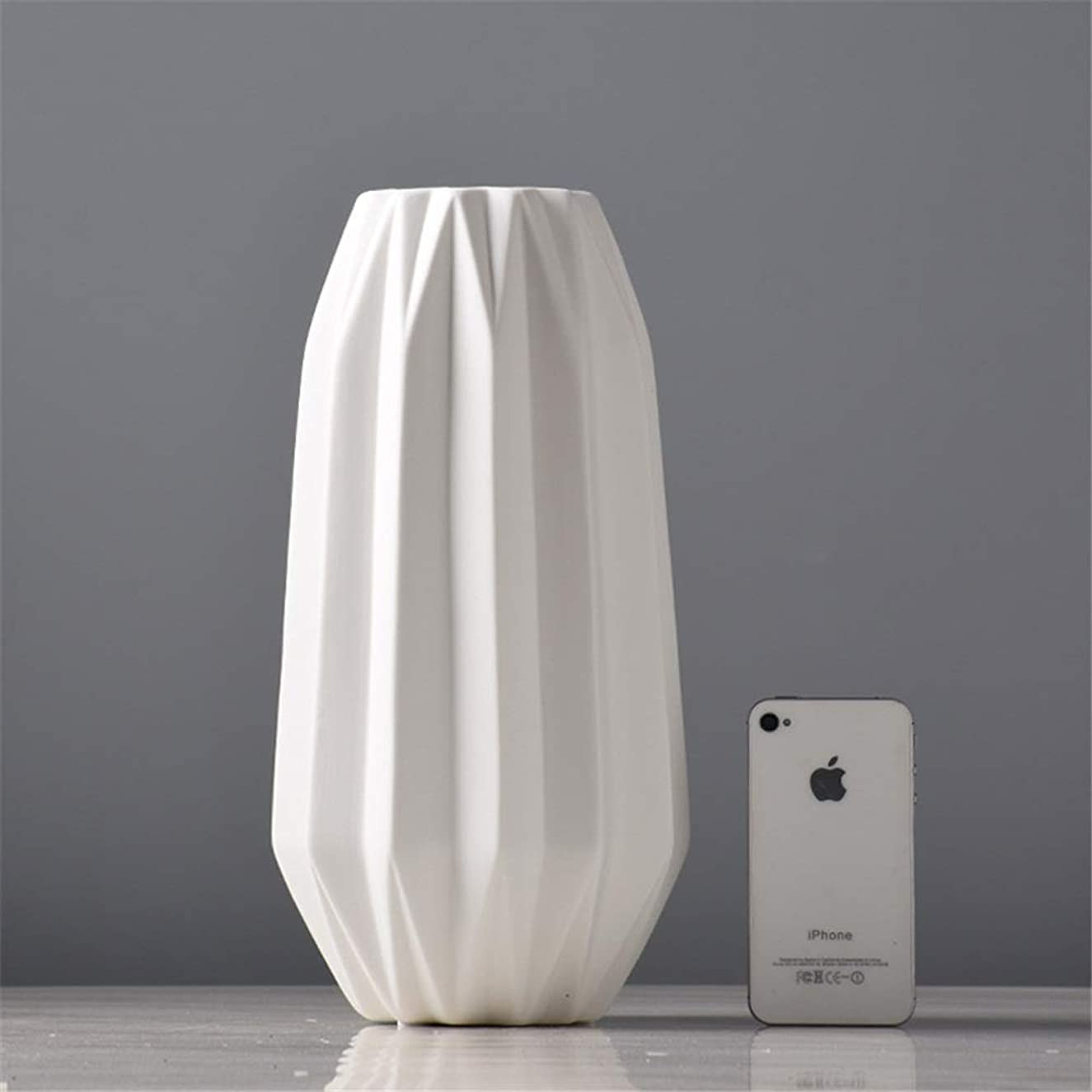 効率ステーキ重要なクリエイティブ現代のアングル石器ホームデコレーションフラワーベースホワイト 暖かい装飾 (色 : C, サイズ : Free)