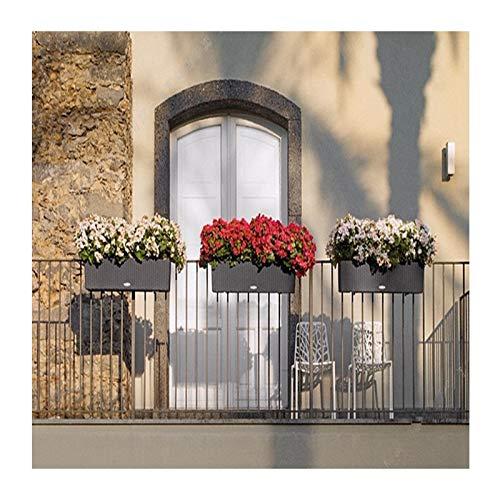 ALX Creative Pot de Fleurs en résine Absorbant automatiquement l'eau (Peut être planté à l'intérieur et à l'extérieur), Résine, Marron, TB-01(50×19×19cm)