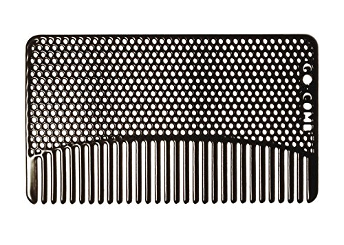 Go-Comb - Wallet Comb - Sleek, Durable Stainless Steel Hair and Beard Comb - Black