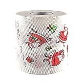 Amosfun - Rollo de papel higiénico con diseño de Papá Noel
