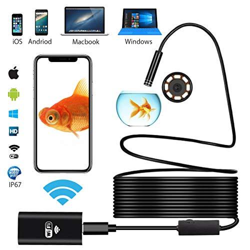 Ephram ワイヤレス内視鏡カメラ スマホ iphone android ios pc対応 wifi接続 ファイバースコープ アンドロ...