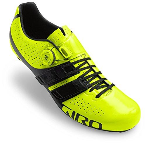 Giro Factor Techlace Road, Zapatos de Ciclismo de Carretera para Hombre, (Highlight Yellow/Bla 000), 43 EU