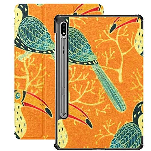 Funda Galaxy Tab S7 Funda Delgada y Ligera con Soporte para Tableta Samsung Galaxy Tab S7 de 11 Pulgadas Sm-t870 Sm-t875 Sm-t878 2020 Release, Vector Seamless Pattern Toucan Eps10
