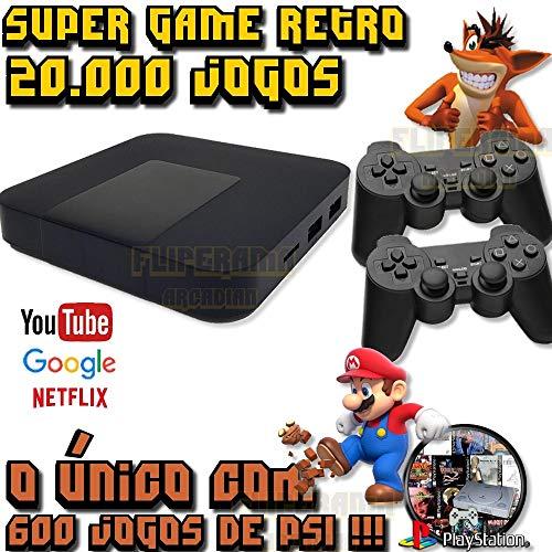 Vídeo Game Retrô 20.000 Jogos + 2 Controles USB + 600 Jogos PS1