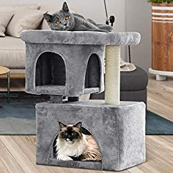 Beau Jardin Cat Tree For Large Cats Heavy Cat Condos And Towers For Big Cats With Xl Condo And Perch Cat Tower With Scratching Post Cat Scratch Tree Furniture House