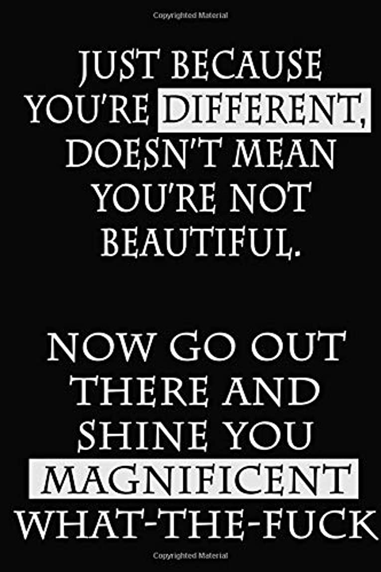 母性レーニン主義行商Just Because You're Different, Doesn't Mean You're Not Beautiful. Now Go Out There and Shine You Magnificent What-the-Fuck: A Dot Grid Journal
