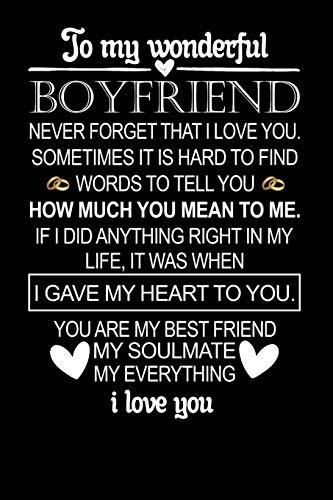 To My Boyfriend the Day I Met You I Found My Missing Piece: Cute Valentines Day Gifts for Boyfriend Journal, Gift for Him Boyfriend Notebook: Couples Gifts for Boyfriend From Girlfriend