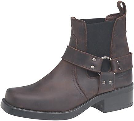 Men's Cowboy/Biker Terminator Real Leather Ankle Boots