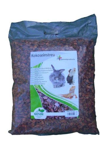 Kokoseinstreu grob 25 Liter 1er Pack (EUR 0,54/Liter), Kokoschips, Einstreu geeignet als Käfig Bodenbedeckung für Kaninchen, Meerschweinchen, Degus, Ratten und andere Nagetiere, ebenso geeignet für Schlangen, Schlidkröten und andere Reptilien
