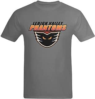 Men's Deep Heather Lehigh Valley Phantoms Logo Design T-Shirt
