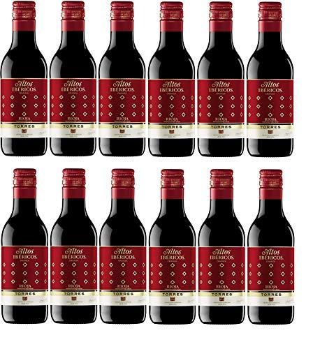 Altos Ibéricos Crianza, Vino Tinto - 12 botellas de 18.7 cl, Total: 2244 ml
