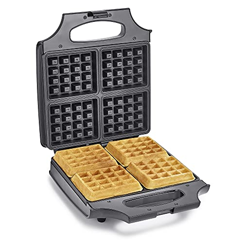 BELLA 4 Slice Non-Stick Belgian Waffle Maker, Fluffy Restaurant-Style Waffles in Under 6 Minutes,...